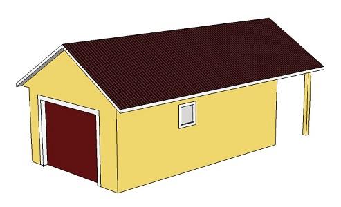 Проект гаража 4,2 х 8,9 м