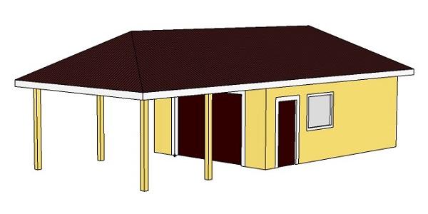 Проект гаража 5 х 12 м