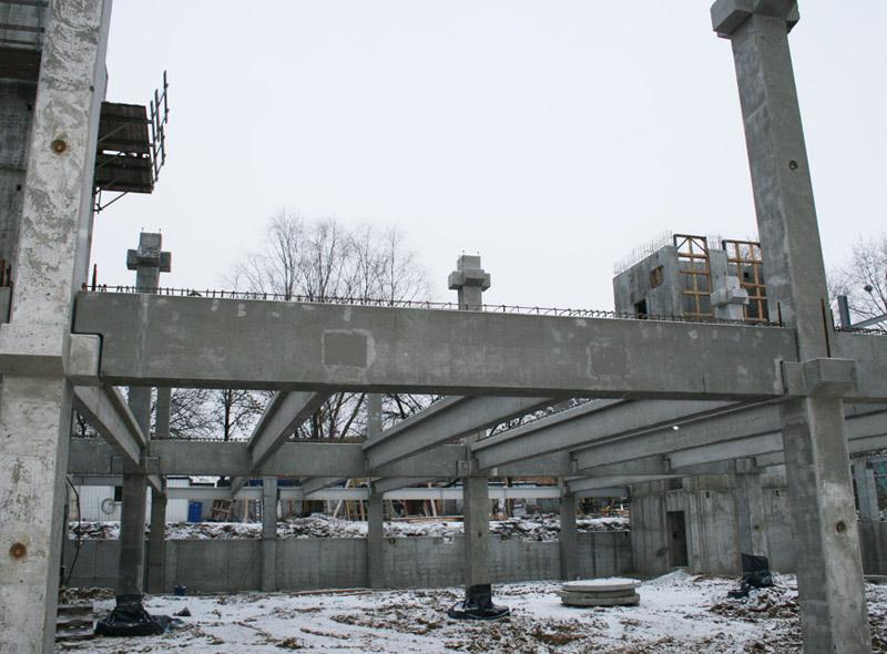 Использование стаканного фундамента при строительстве двухэтажного промышленного здания