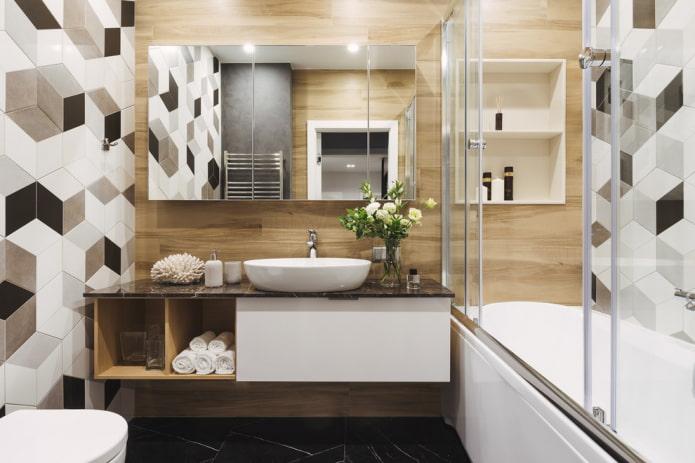 декор и аксессуары в ванной в квартире хрущевке