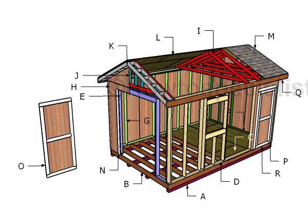 как построить крышу сарая