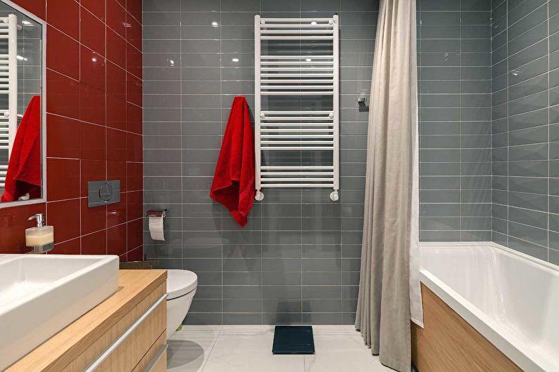 Дизайн серой ванной комнаты в хрущевке