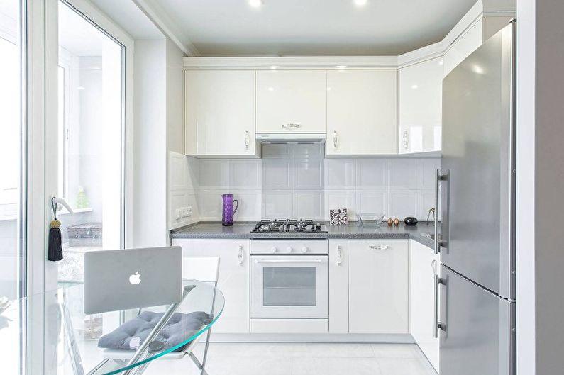Белая кухня в современном стиле - Дизайн интерьера
