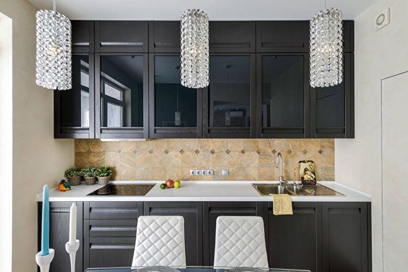 Черная кухня в современном стиле - Дизайн интерьера