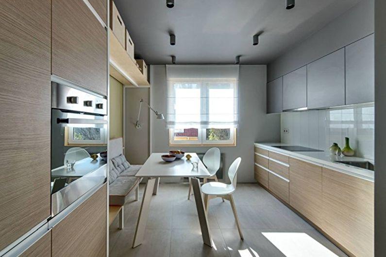 Дизайн кухни в современном стиле - Отделка потолка
