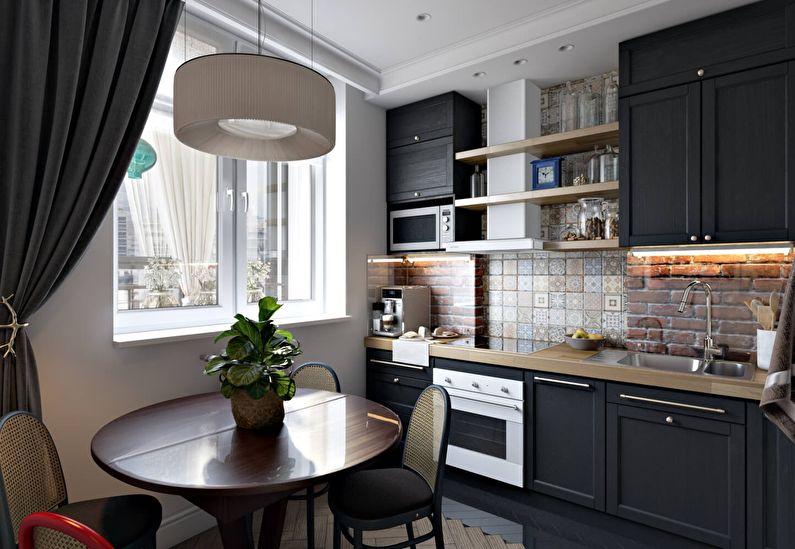 Маленькая кухня - отделка стен