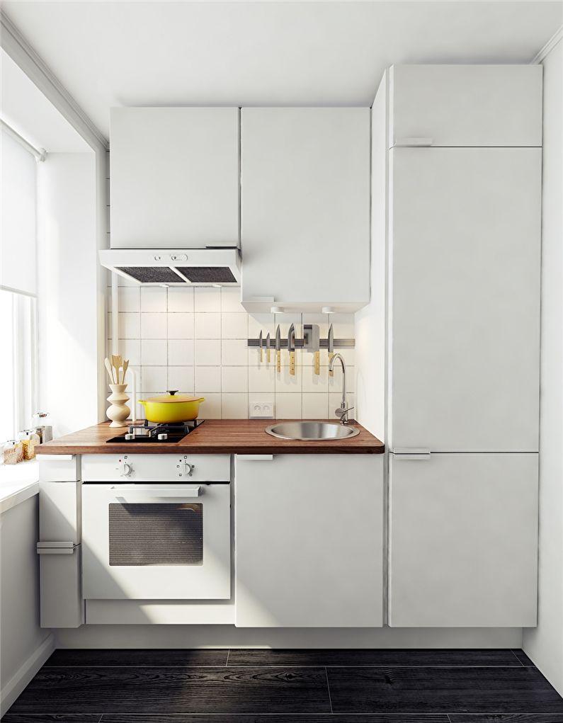 Кухонный гарнитур - дизайн маленькой кухни