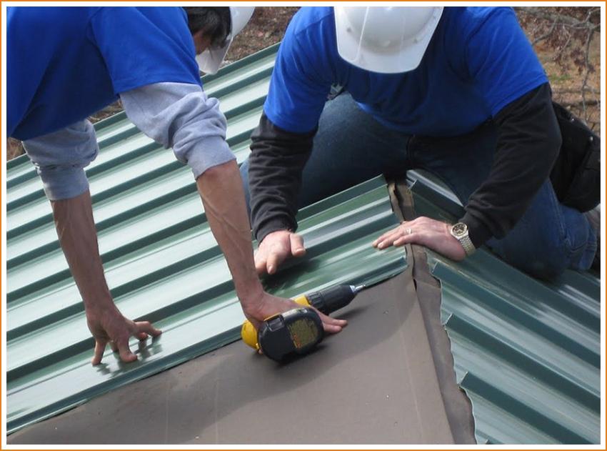 Монтаж крыши, дверных и оконных блоков