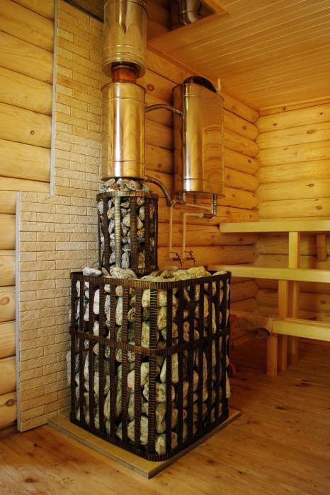 Нагрев воды в бане с помощью теплообменника