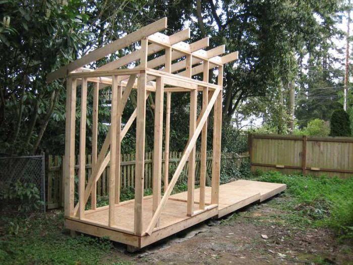 строительство небольшого сарая на даче