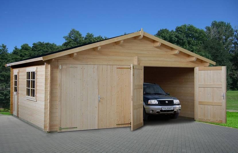 проект гаража с хозблоком и подвалом