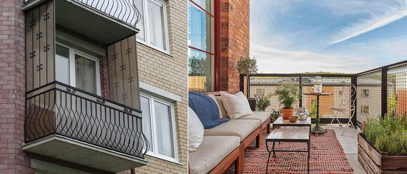 Фото: балкон (лоджия) может иметь разную площадь, комната на балконе