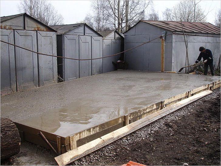 Бетонный пол для гаража