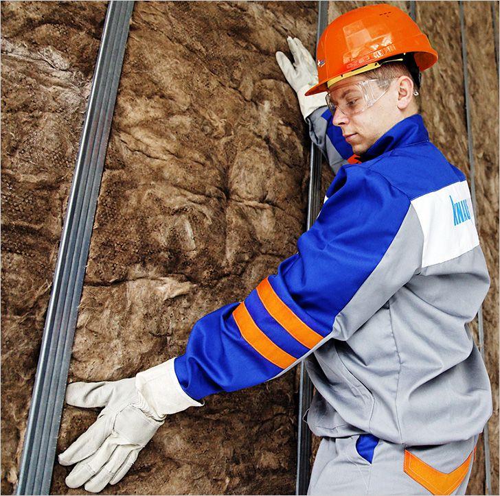Монтаж минерального утеплителя