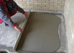 Делаем заливку бетоном