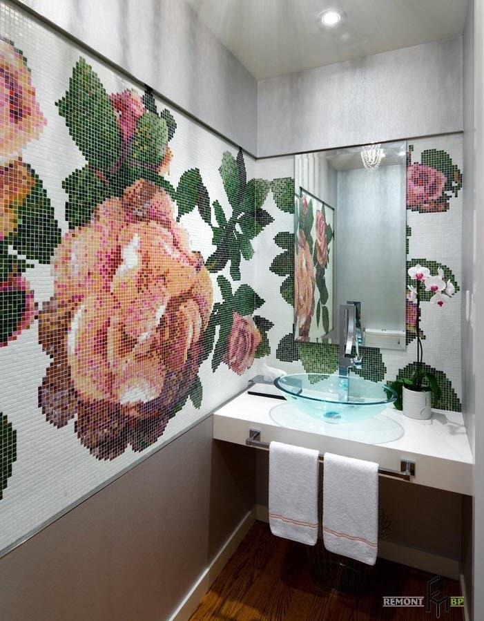 Крупное изображение цветов
