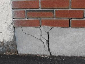 Пример повреждения фундамента