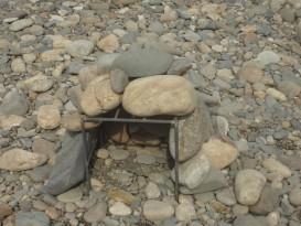 Принцип укладки камней на каркас