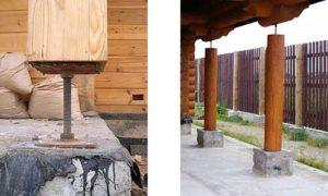 Компенсаторы устанавливаются как в верхней части столба, так и под ним