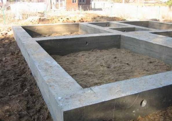 ленточный фундамент для дома