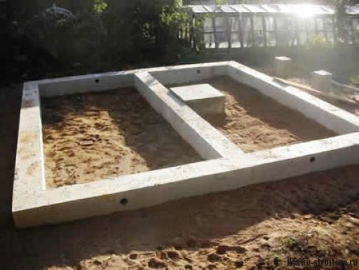 Ленточный фундамент под сарай