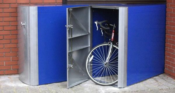Металлический гараж для велосипеда