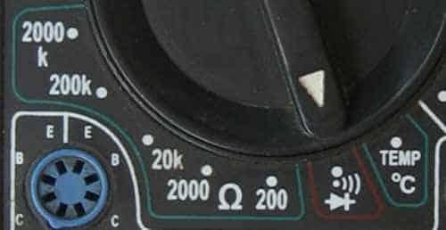 Режим мультиметра, при котором тестируются полупроводниковые выпрямительные диоды