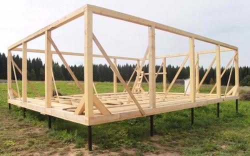 конструкция укреплённая укосинами