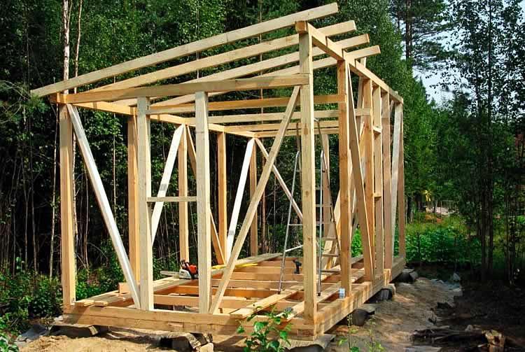примеры постройки сарая с фото можно