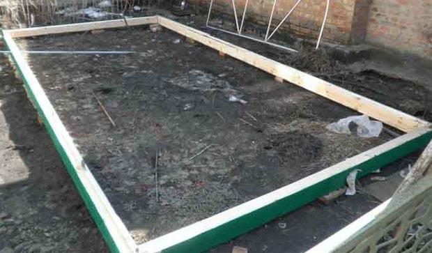Готовим фундамент для бани
