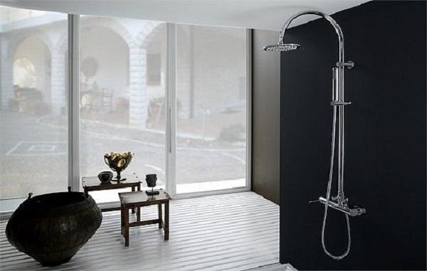 Душевая стойка с тропическим душем со смесителем