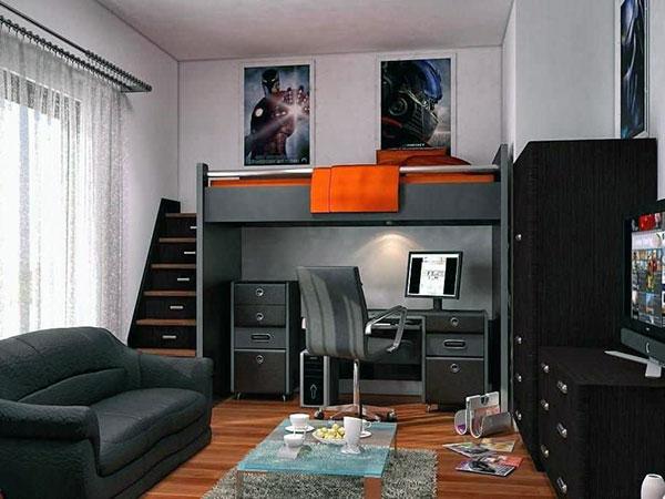 Комната для подростка с кроватью