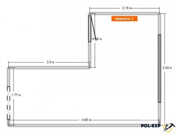 Основные размеры комнаты
