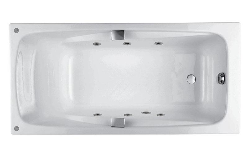 Ванна с гидромассажем чугунная Jacob Delafon Repos 180x85х42