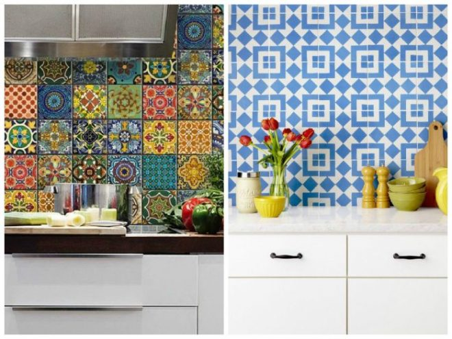 Дизайн кухонного фартука из плитки
