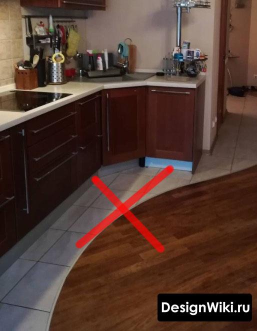 Пол для маленькой кухни