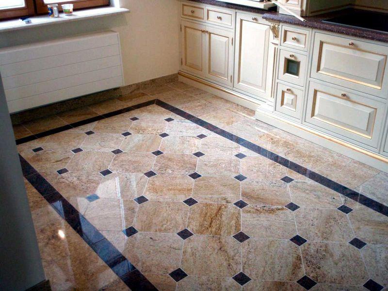 Свойства и дизайн плитки на пол для кухни