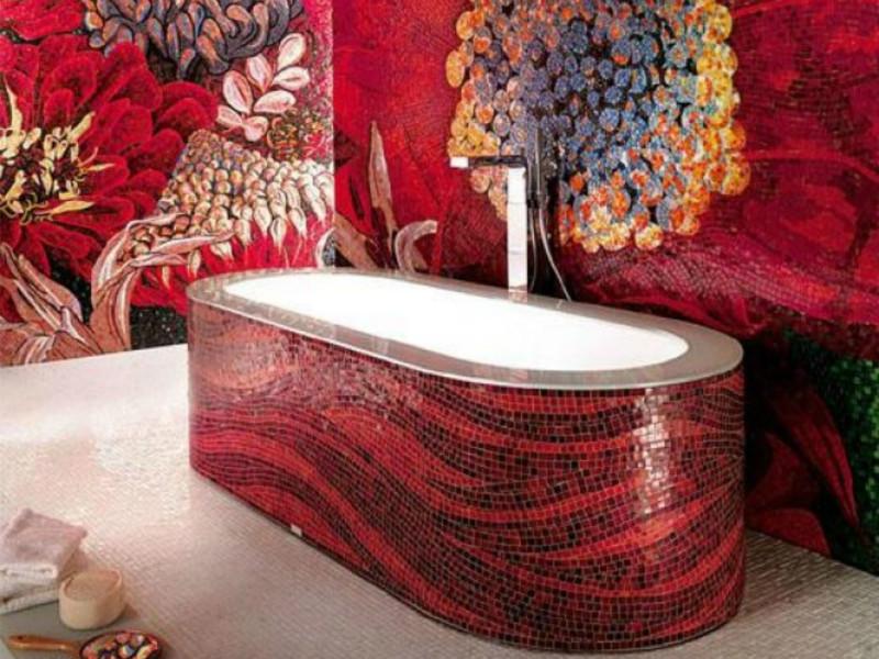 Мозаика для ванной комнаты декоративный рисунок