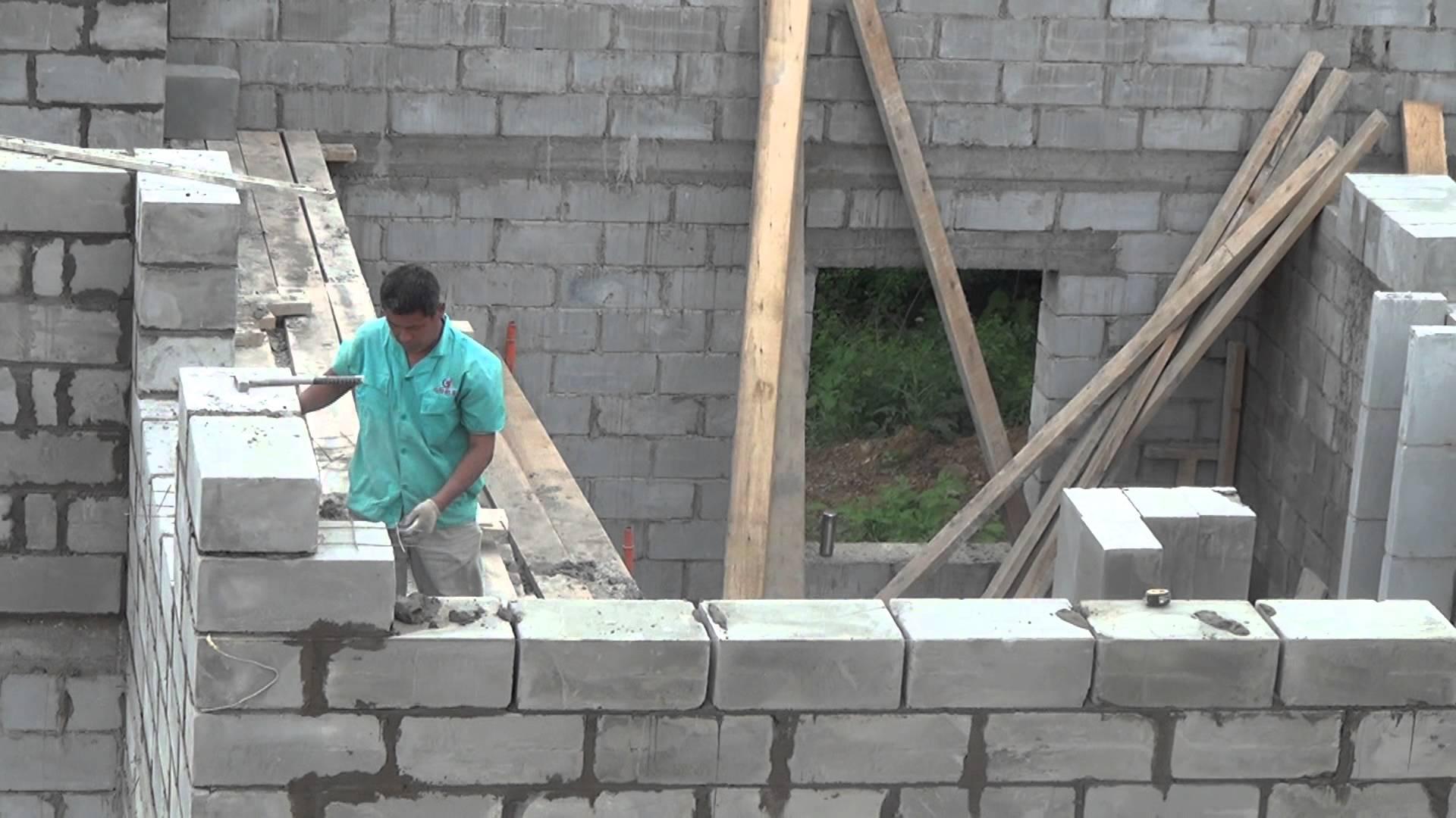 Строим дом из пеноблоков своими руками фотоотчет