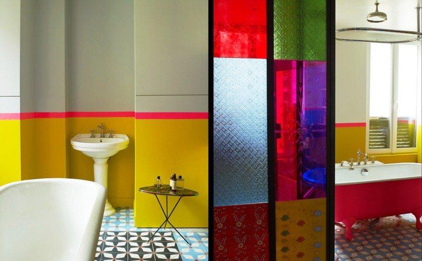 покраска стены в ванной комнате