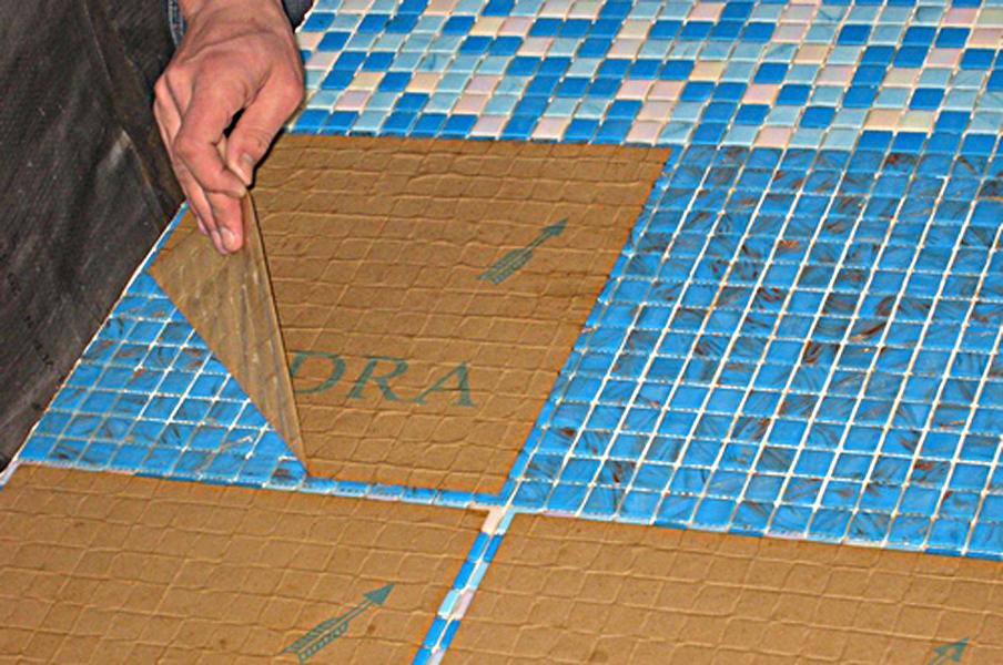 Укладка мозаичного листа на бумажной основе своими руками