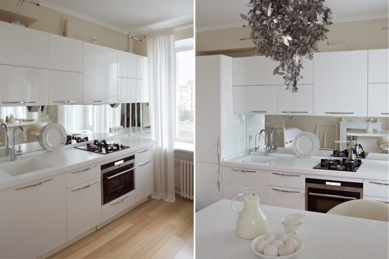 Дизайн кухни в студии