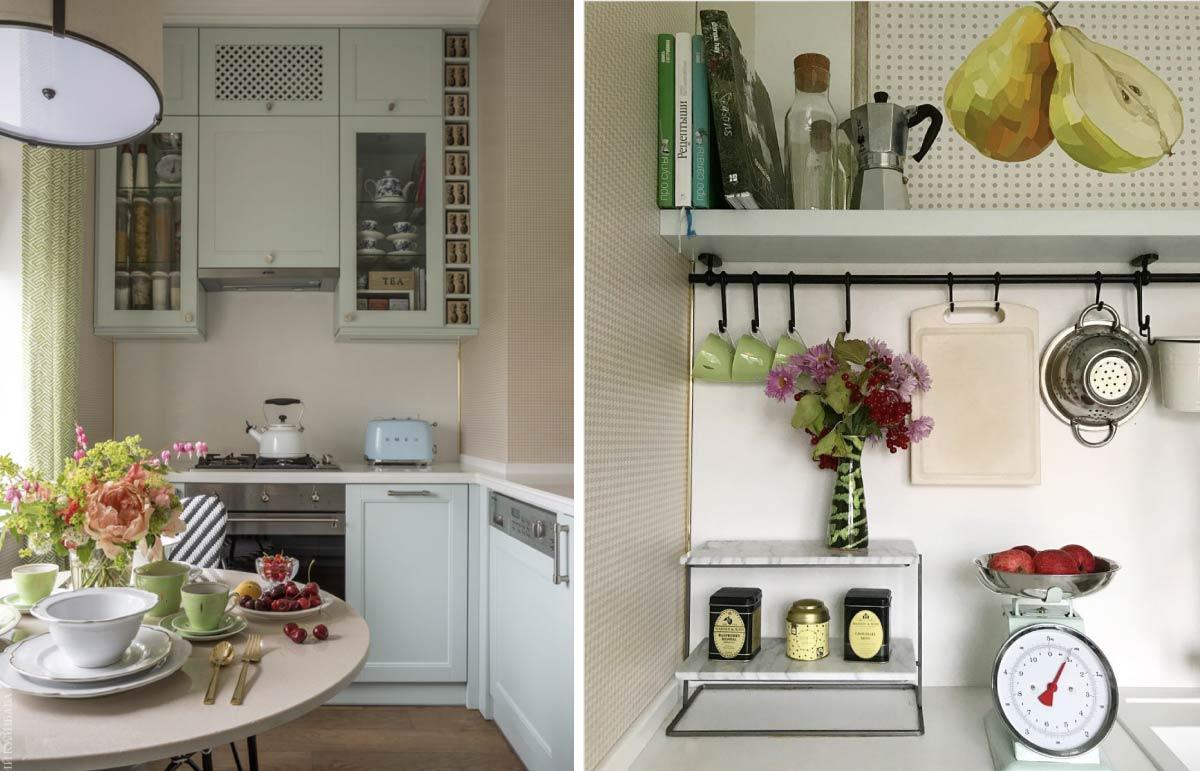 Дизайн маленькой кухни в сталинке