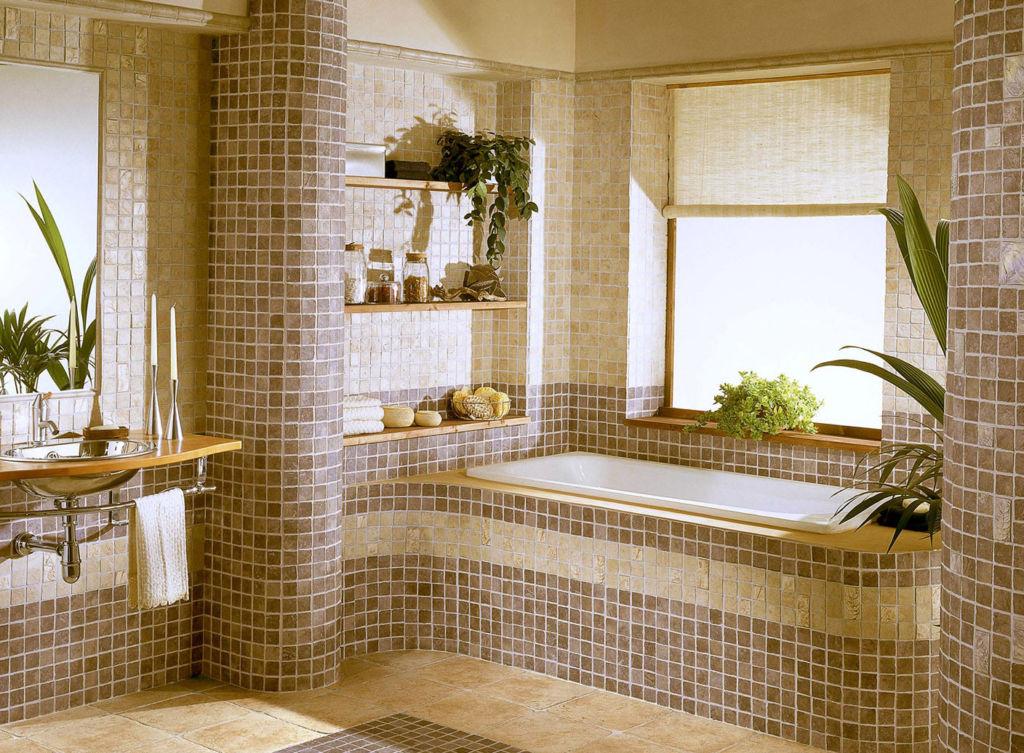 Мозаика в ванной - один из самых дорогостоящих материалов