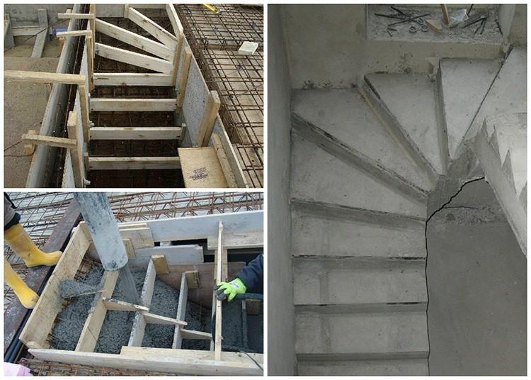 Заливку ступенек стоит выполнить в процессе строительства