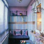 отделка комнаты на балконе