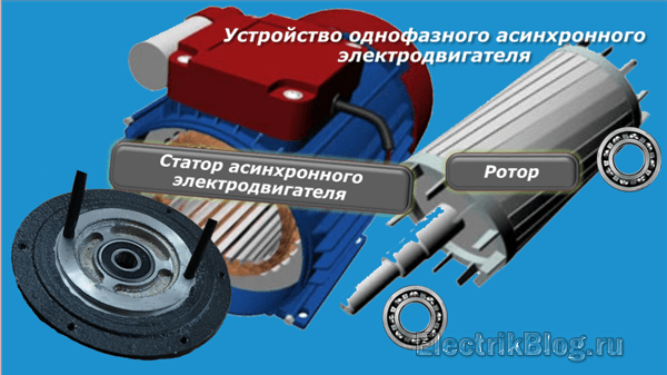 Устройство однофазного электродвигателя