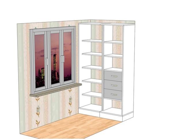 монтаж шкафа-купе на балконе