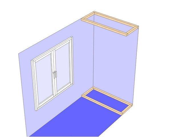 монтаж шкафа на балконе