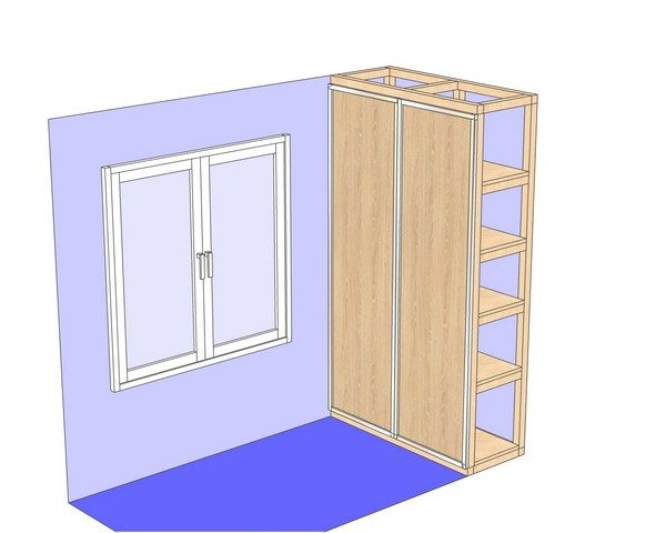 установка фасадов шкафа
